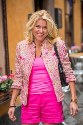 stylish classic pink jacket