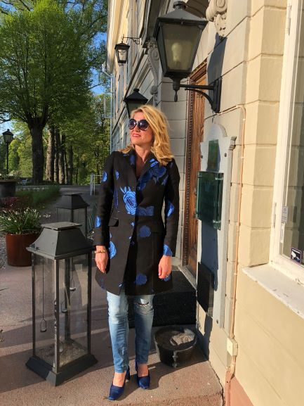 7a7445bc101 I just love my blue Marita coat. It works indoors, as well as outdoors,  spring, summer and autumn time.