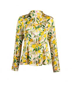 stylish yellow silk blouse