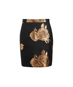 stylish elegant gold skirt