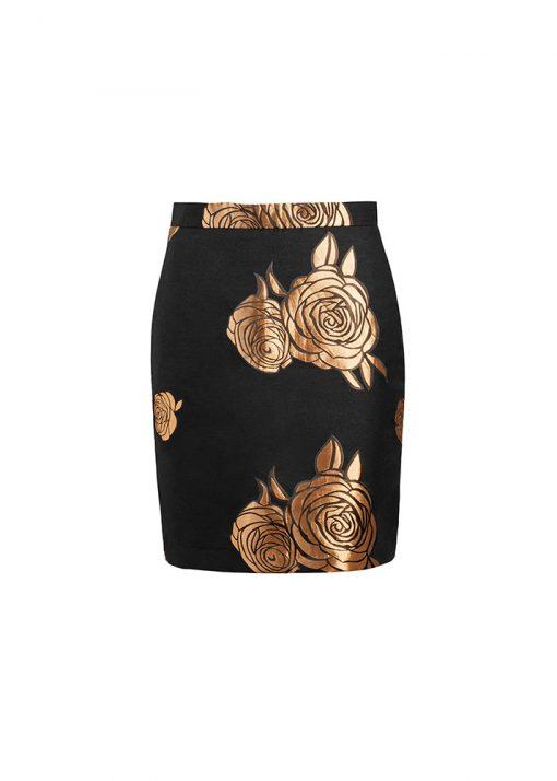 stylish elegant gold skirt
