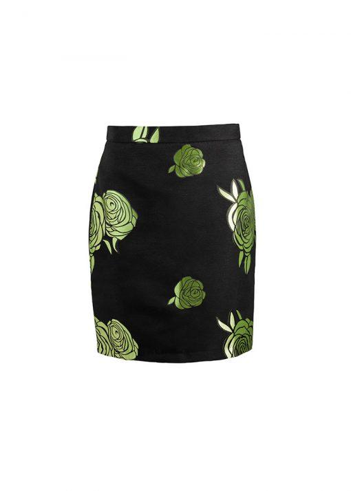 stylish elegant floral skirt